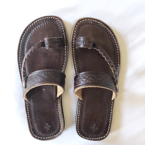 30784065a5b1 Genuine handmade Moroccan leather sandals from Marrakech