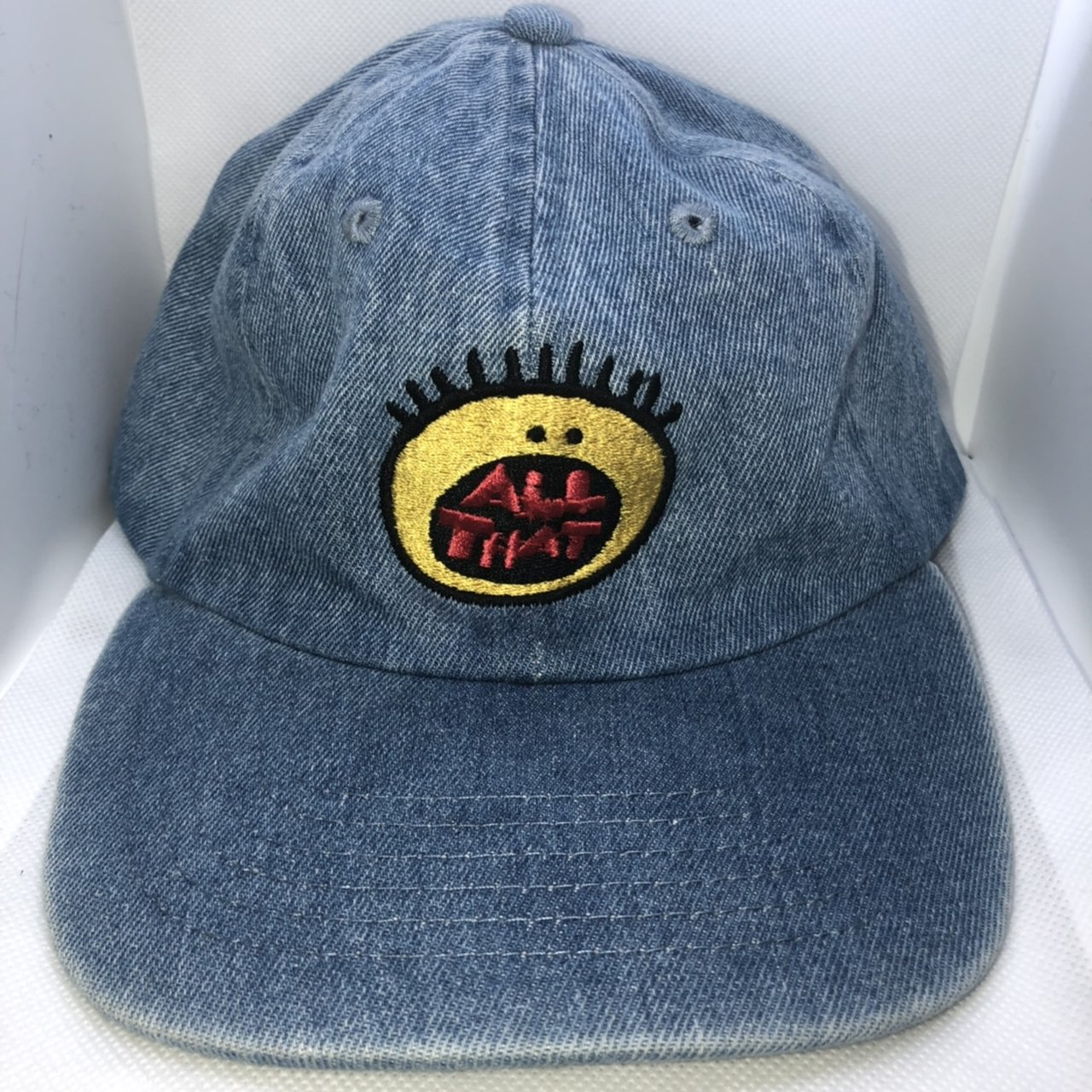 90 s style All That dad hat denim blue •worn once• no Has - Depop 1cb89a51f1f1