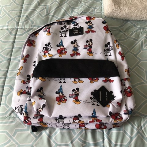 6901a9bb52 NWT VANS Mickey Mouse Backpack. Has Mickey through the years - Depop