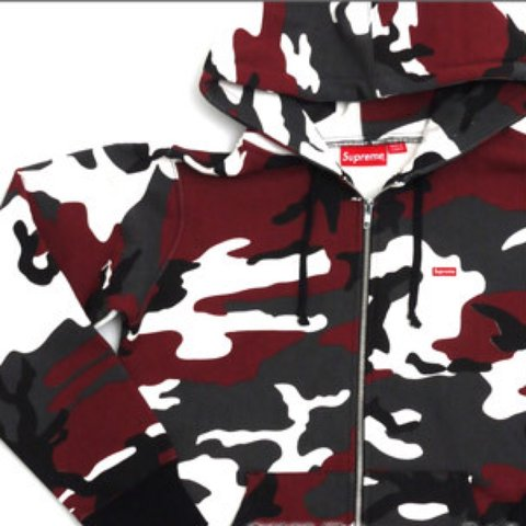 ac4afb5f8c55 selling this supreme red camo zip hoodie