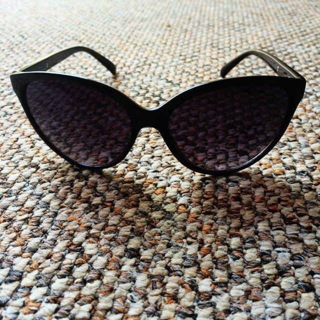 038c6206f0 French Connection cat eye sunglasses - with case  sunglasses - Depop
