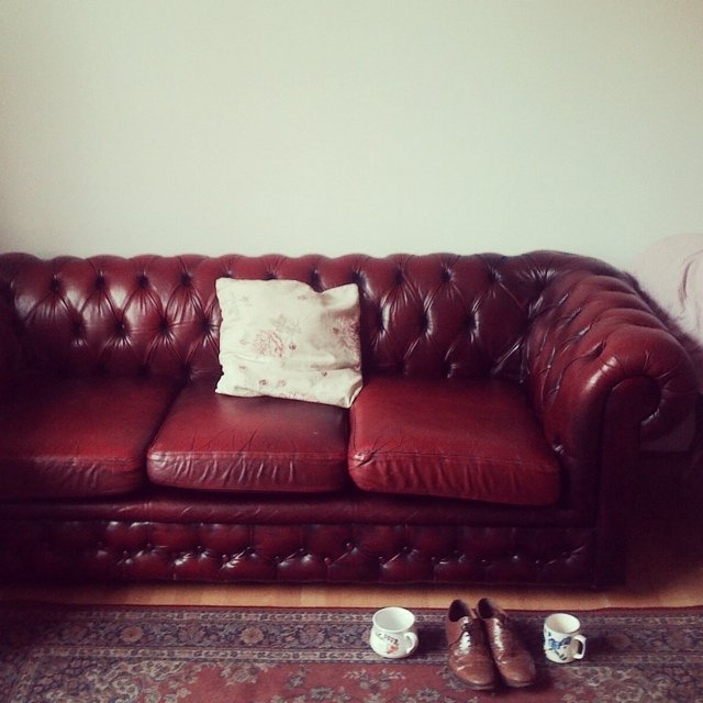 Chesterfield Style Ox Blood Red Sofa I Can Deliver It If In Depop