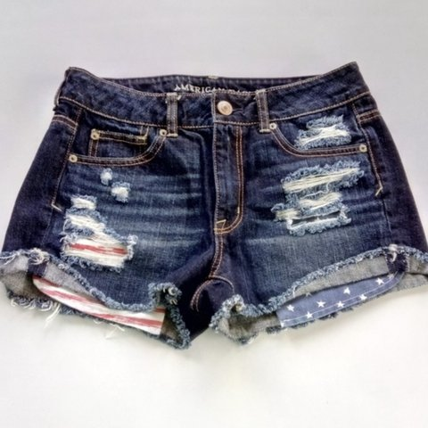 fa773b0d644 @bestdealshop. 5 months ago. Lutherville Timonium, United States. American  Eagle Outfitters denim shorts. Stars and Stripes. Pockets ...