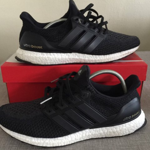429647214c8ed Adidas Ultra Boost 2.0 Core black colourway. 9 10 OG have as - Depop
