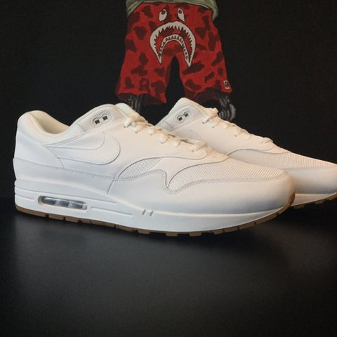 new styles a5566 225a5  bootroom. 3 months ago. Grimsby, United Kingdom. Nike Air Max 1 White Gum  sole ...