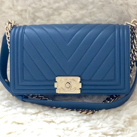 46134f0ced5a1f @chanelove88. last month. United States. Chanel Boy bag in calfskin with ...