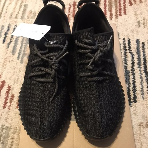 e6834160e Adidas YEEZY 350 pirate black size 12.5 never worn. (NO BOX) - Depop