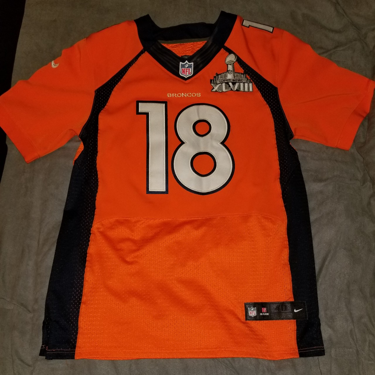 factory authentic 959b1 1dca7 Nike Peyton Manning Jersey Superbowl Edition XLVIII... - Depop