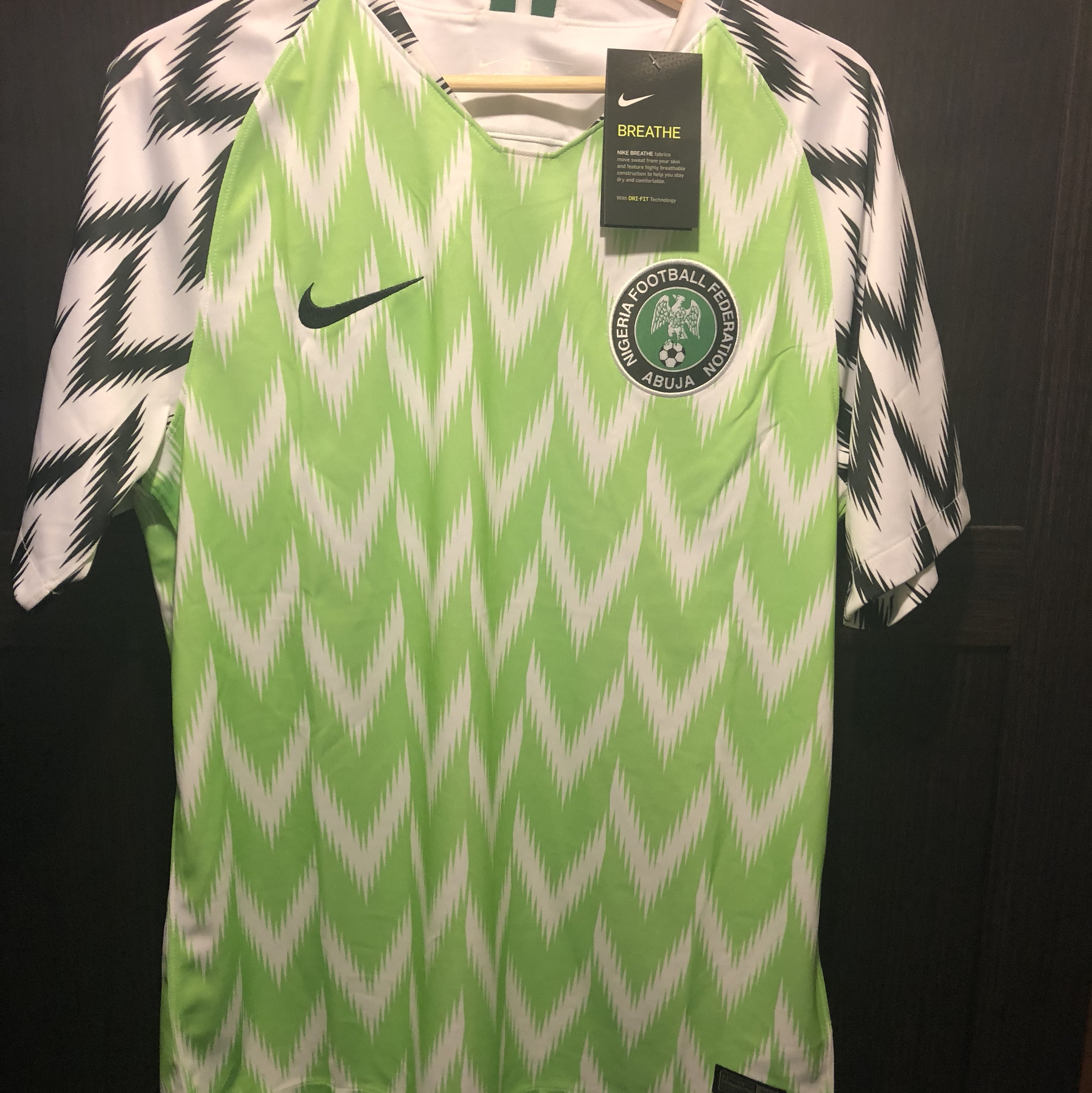 quality design b488c af461 100% authentic Nigeria 2018 World Cup home jersey.... - Depop