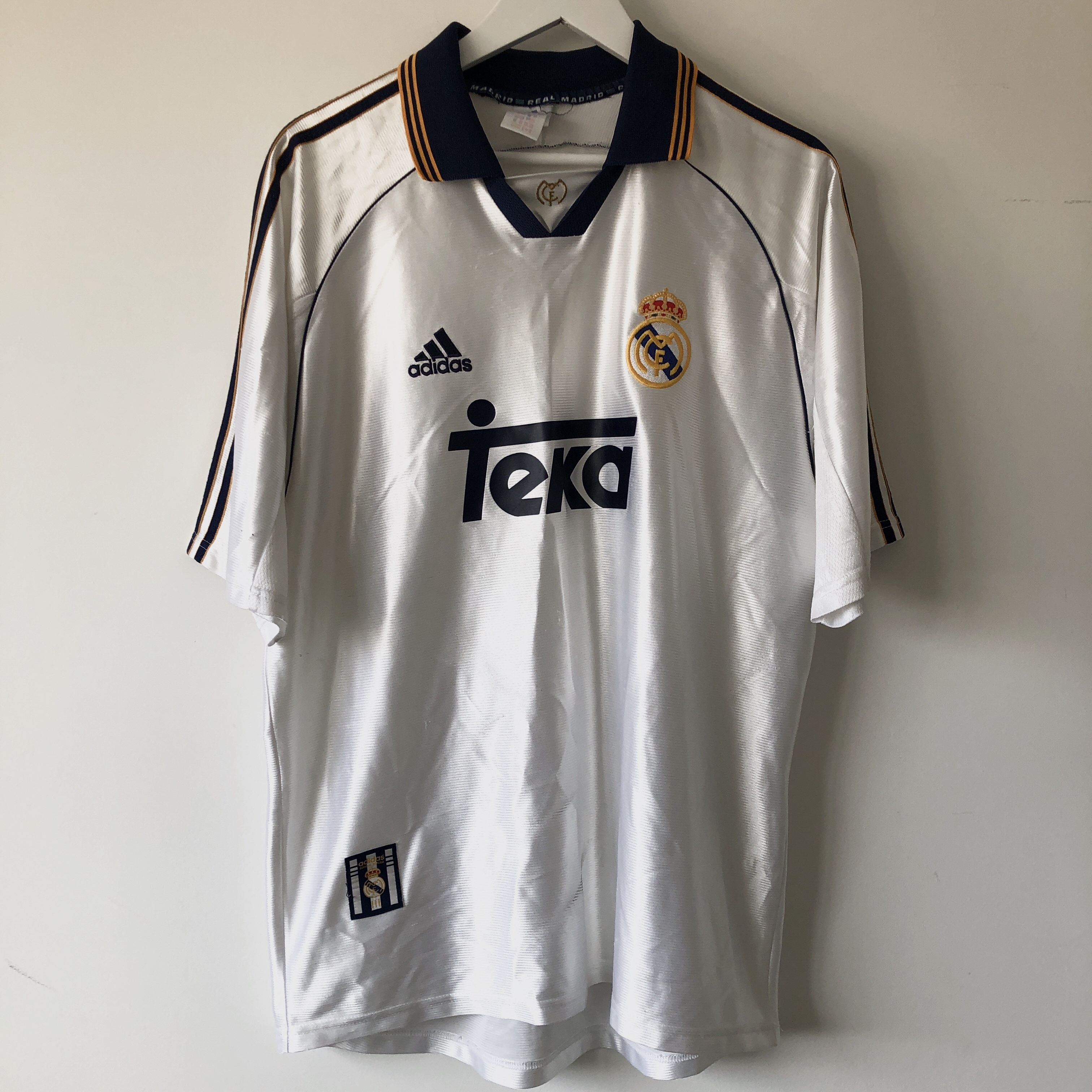 uk availability 5da6f c0274 ADIDAS VINTAGE REAL MADRID TEKA JERSEY DROPPING A... - Depop