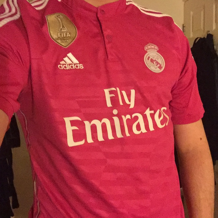purchase cheap 3fc9c 5484d Classic Pink Real Madrid Third Kit 2014/2015. 9/10... - Depop