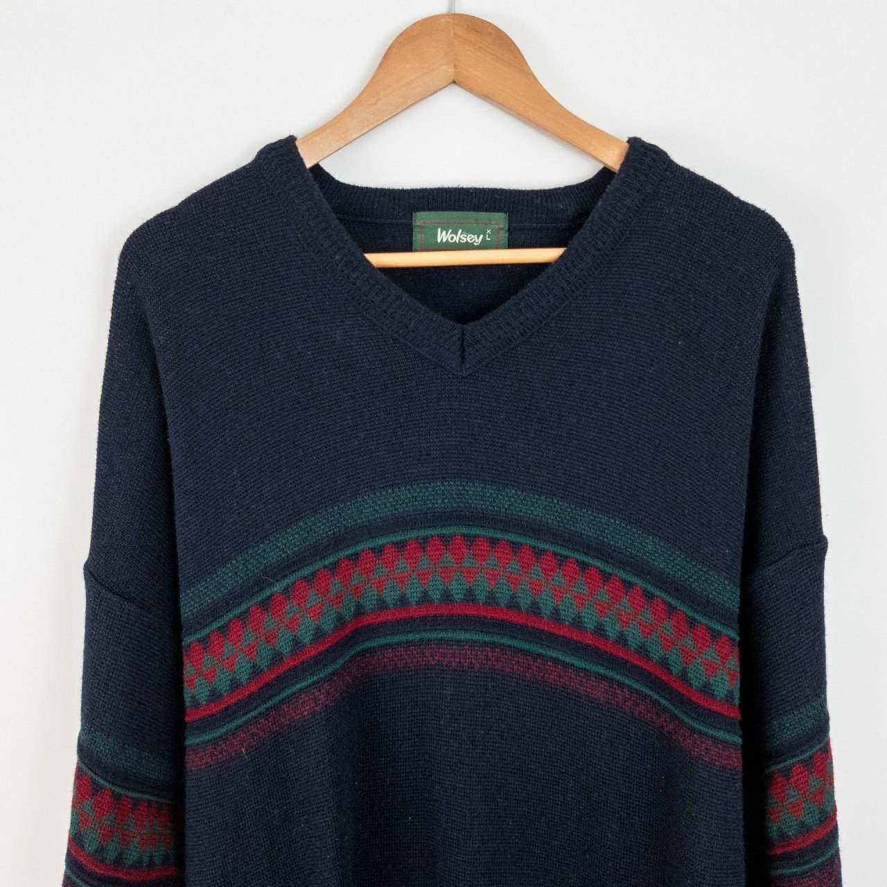 775c153c70e6 SALE 🎉 WAS £23.99 NOW £15.99 🎉 Vintage navy pattern knit - Depop