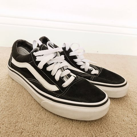 68f3cab425 Vans old Skool trainers worn twice bought for 55. Immaculate - Depop