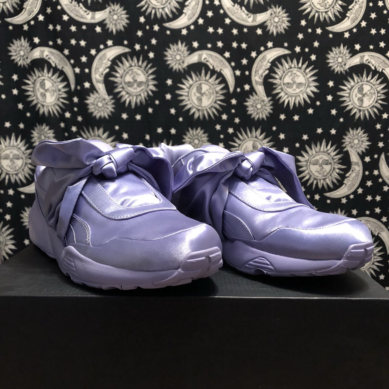 39a5ed63e55e26 Sweet Lavender Bow Sneaker. Size 9 (US) From bad gal x a - Depop