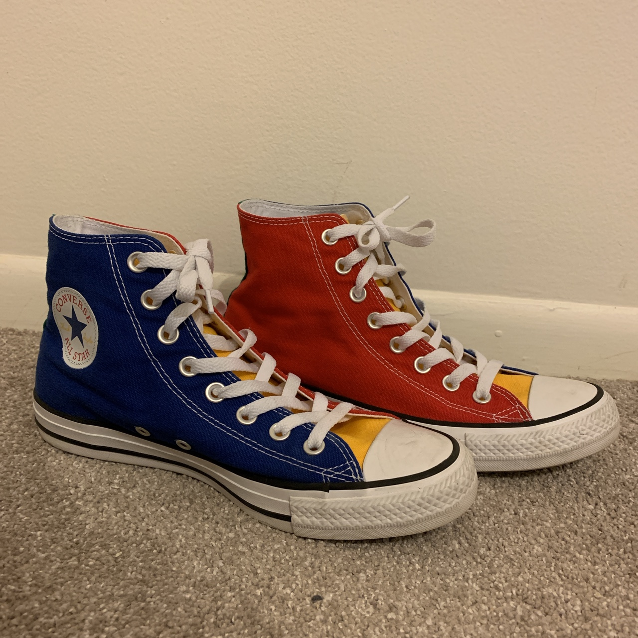 red blue green yellow converse