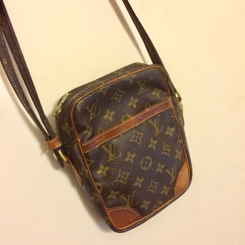 35f676f6c843 Louis Vuitton vintage side bag. Good condition apart from on - Depop