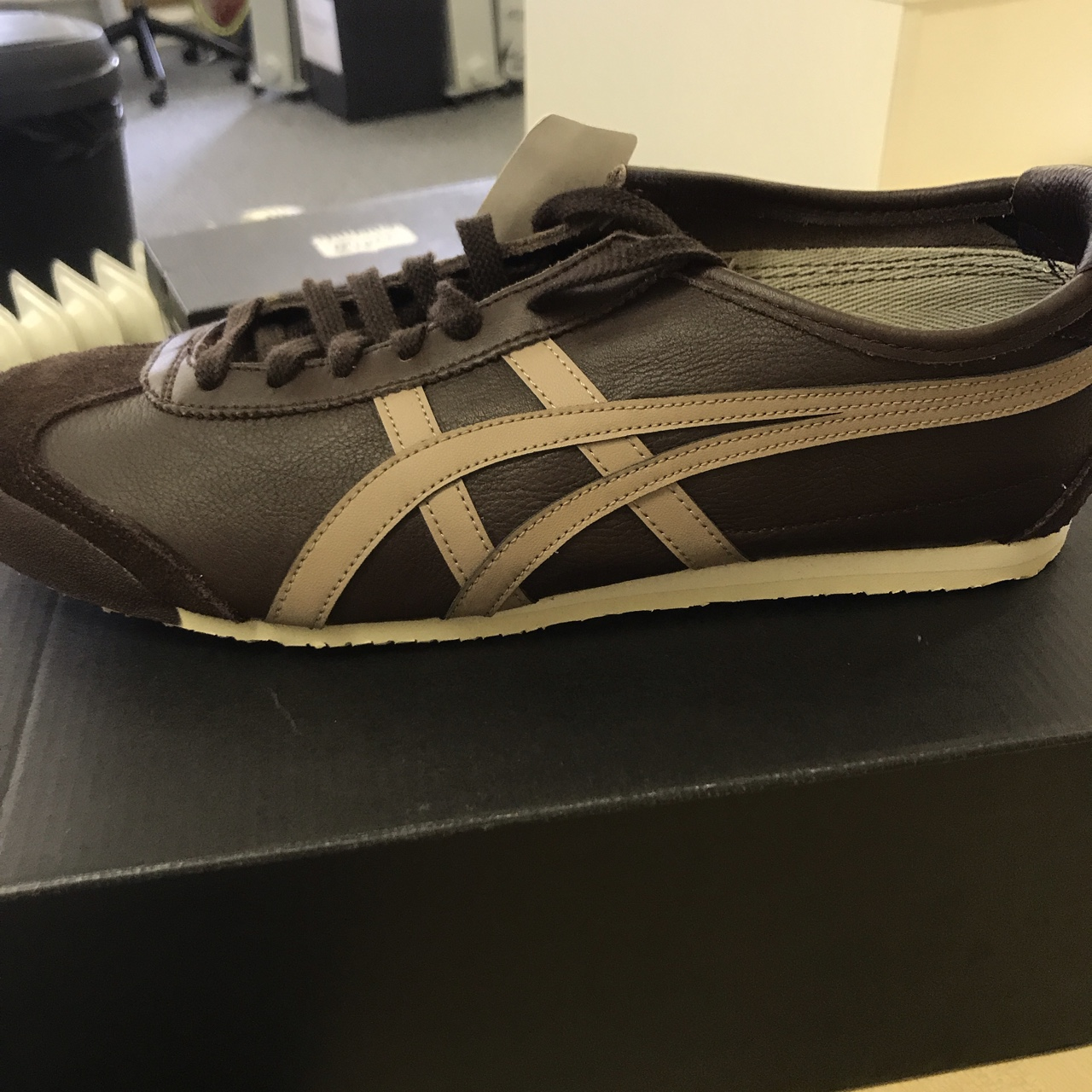 new arrival eb80e 929af ONITSUKA brown trainers, Mexico 66 Coffee taupe grey... - Depop