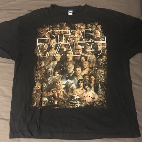 27318204 @gucciwill_thrifterking. 2 months ago. Mercedes, United States. Vintage  Star Wars T-Shirt ...