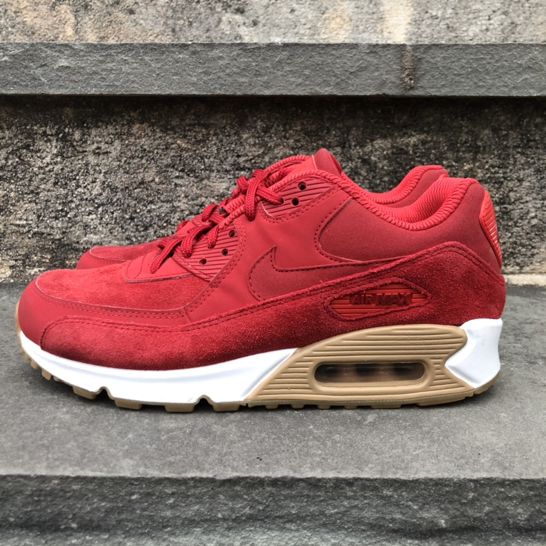 nike air max 90 red suede