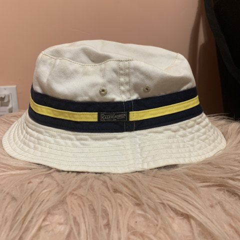 8a29e5a1b577fe @moneycat27. 4 months ago. Brentwood, United States. Polo Ralph Lauren  reversible bucket hat. White colorway ...