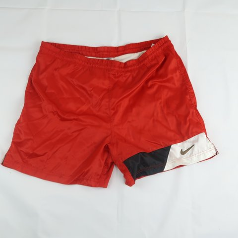 7487414cf0043 @davidflores. 2 months ago. United States, US. Vintage 90s Nike Swim Trunks  Shorts Red L Condition: Great Condition