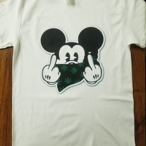 e8aca8f1 @maxiprintingservice. 4 months ago. Cleveland Heights, Cuyahoga County,  United States. Funny graphic mickey mouse marijuana weed 420 adult men  women Tee T- ...