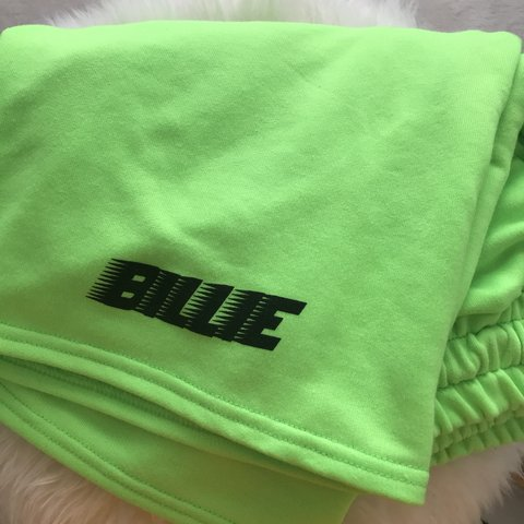 Price Drop Billie Eilish Blohsh Neon Green Shorts Depop