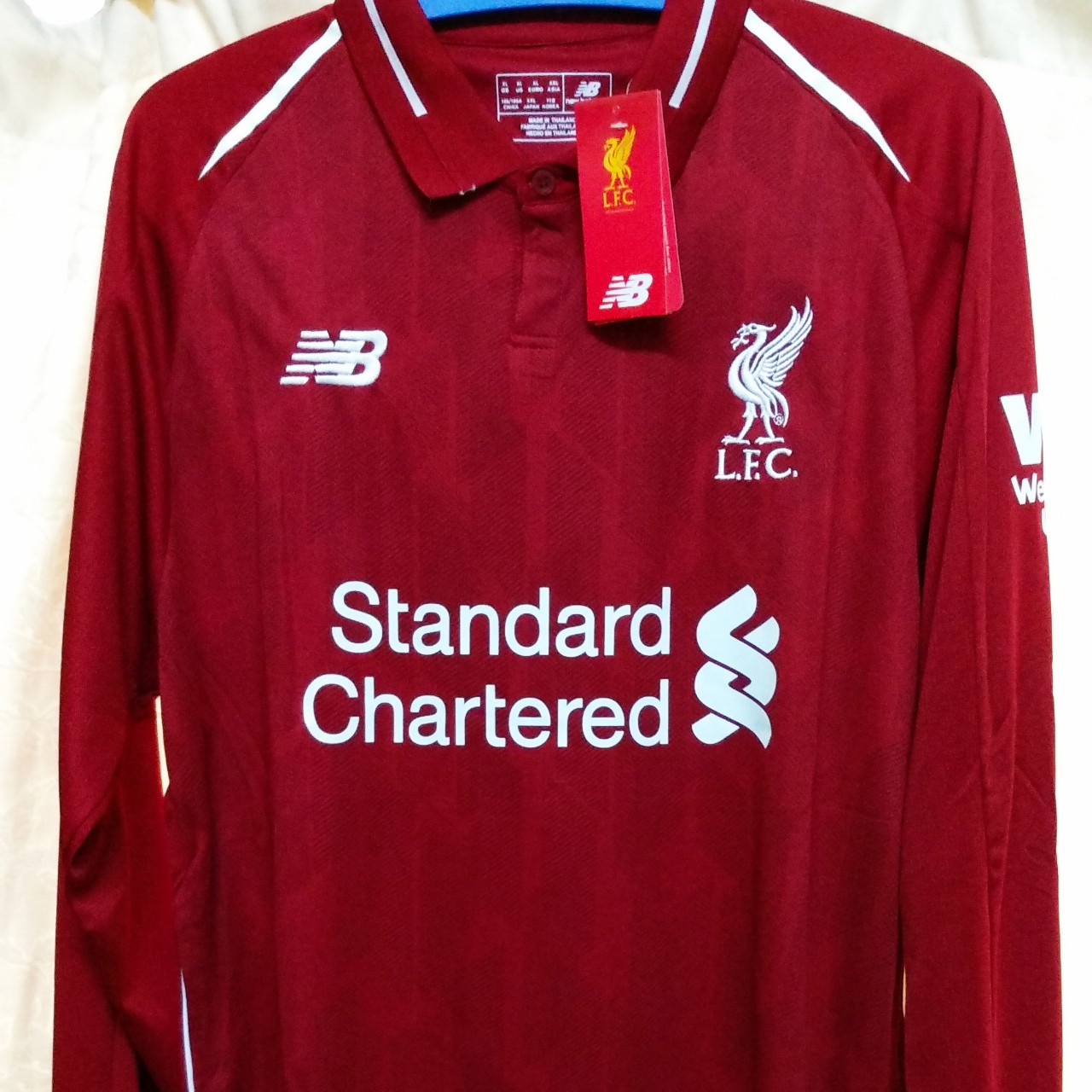finest selection fdf97 4a08a LIVERPOOL FC HOME JERSEY LS 2018/19 Now @ MYR250... - Depop