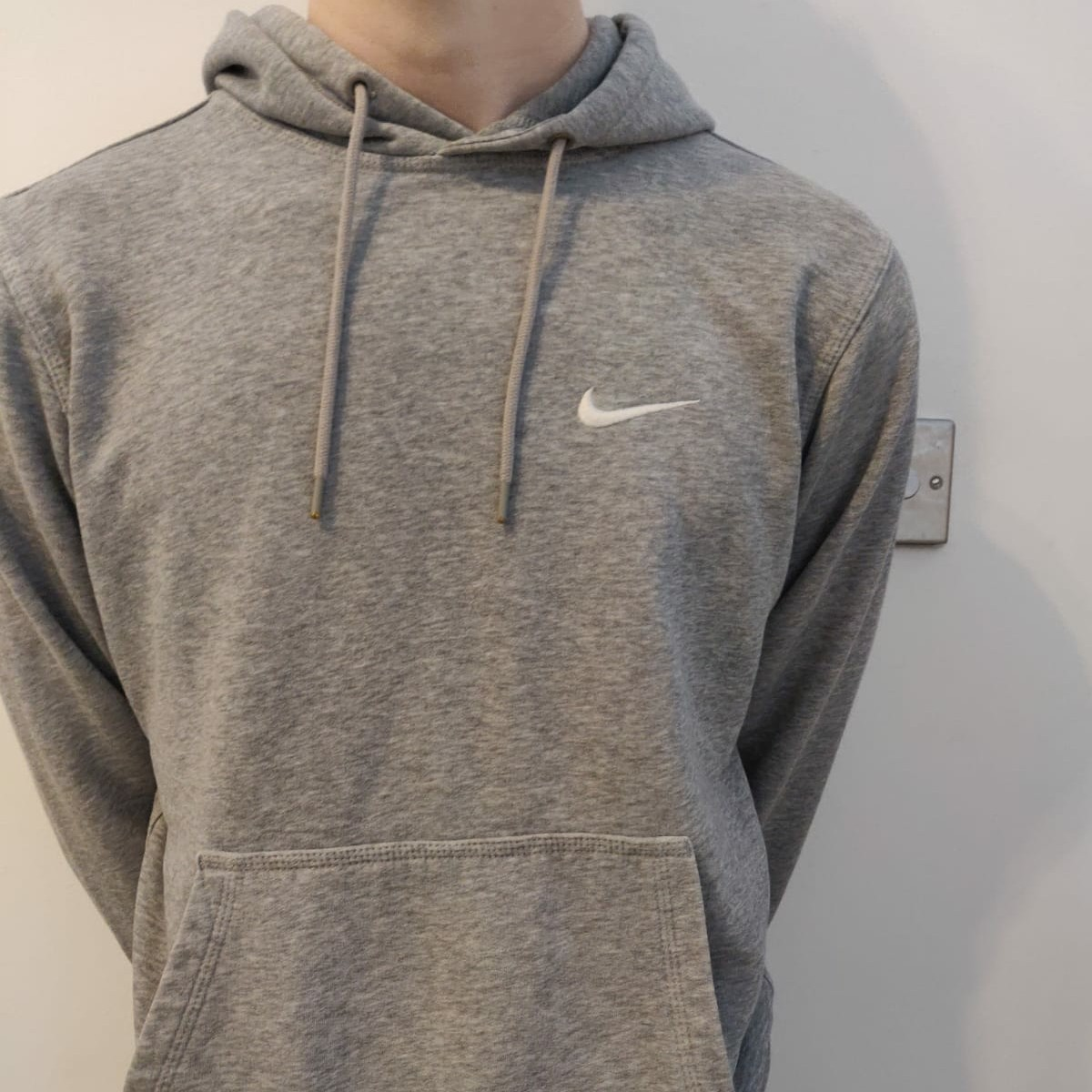 grey nike hoodie. perfect condition. size mens depop super