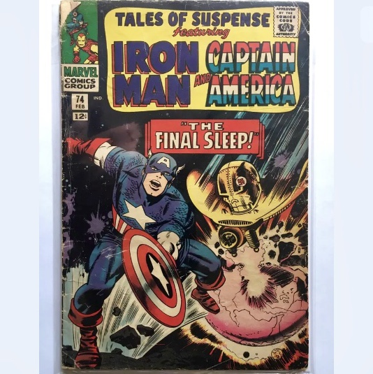 Tales of Suspense #74 Feb 1966, Iron Man and Captain    - Depop