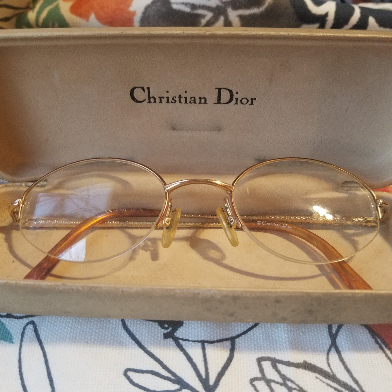 73867a79c92 Vintage Christian Dior glasses in original case. Glasses to - Depop