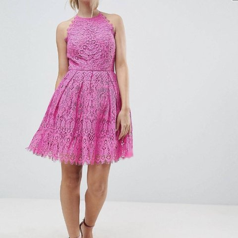 30607c9a6de0 @emma10ant. 26 days ago. Aberdeen, United Kingdom. ASOS DESIGN Petite Pinny  Prom Mini Dress in Pink Lace Size 10. Worn once