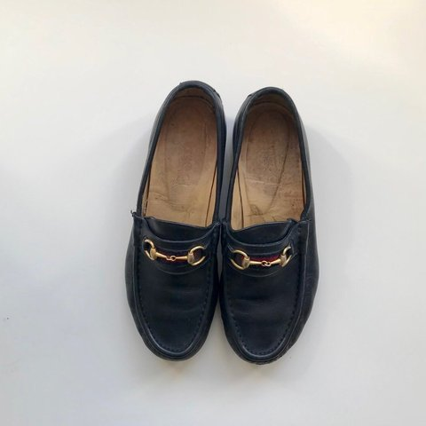 d6f8b9967217d3 Gucci loafers 💜 women's navy authentic vintage 💜 good and - Depop