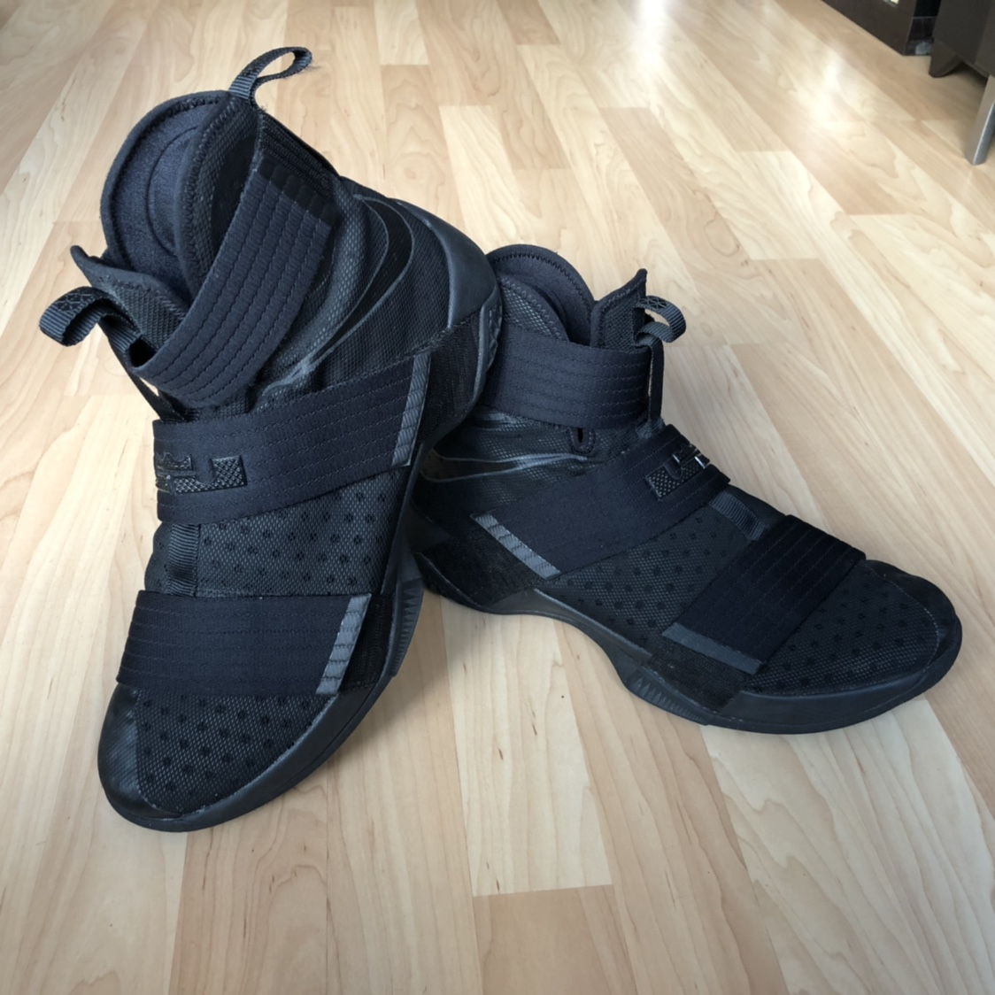"finest selection 43ba4 2f64c Nike Lebron Soldier 10 ""Black Space"" Pre owned.... - Depop"