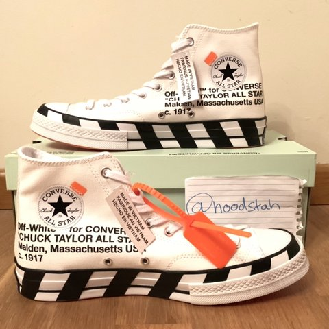 37b94a5e0509  hoodstah. 6 months ago. United Kingdom. BRAND NEW WITH TAGS OFF-WHITE X CONVERSE  CHUCK TAYLOR ...