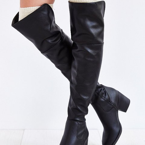 3205ff25a68 Steve Madden Odyssey over the knee boots 🖤 Black faux thigh - Depop