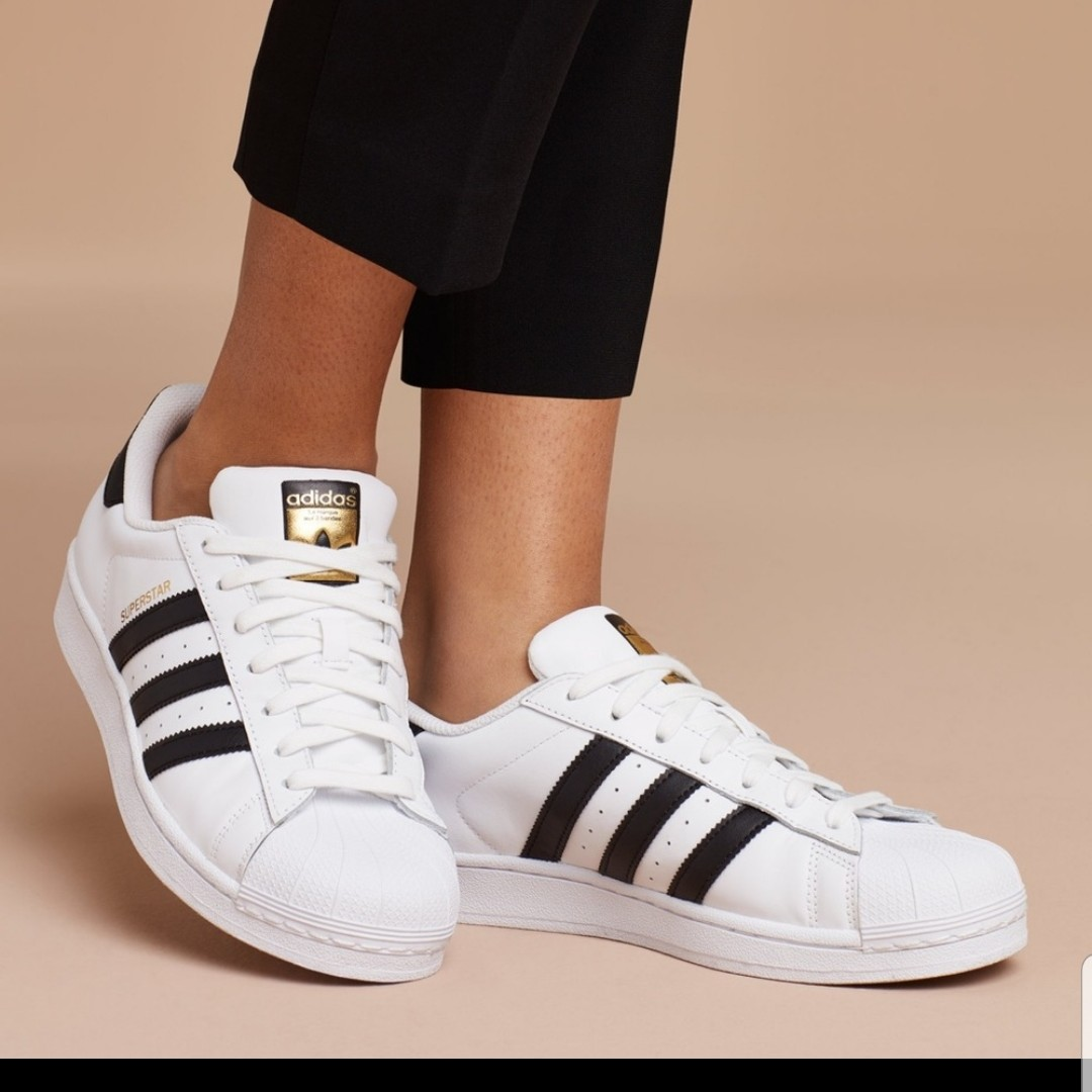 plus récent 64142 4da92 Adidas All Star Sneakers Women White with Black... - Depop