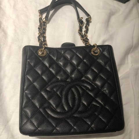 7cc413576777 Chanel Petite Shopping Tote. Worn two times. No signs of In - Depop