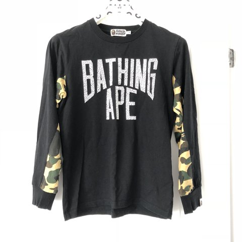 b1522089 Bathing Ape Long Sleeve top. (BAPE) Small men's. 9/10 Only a - Depop