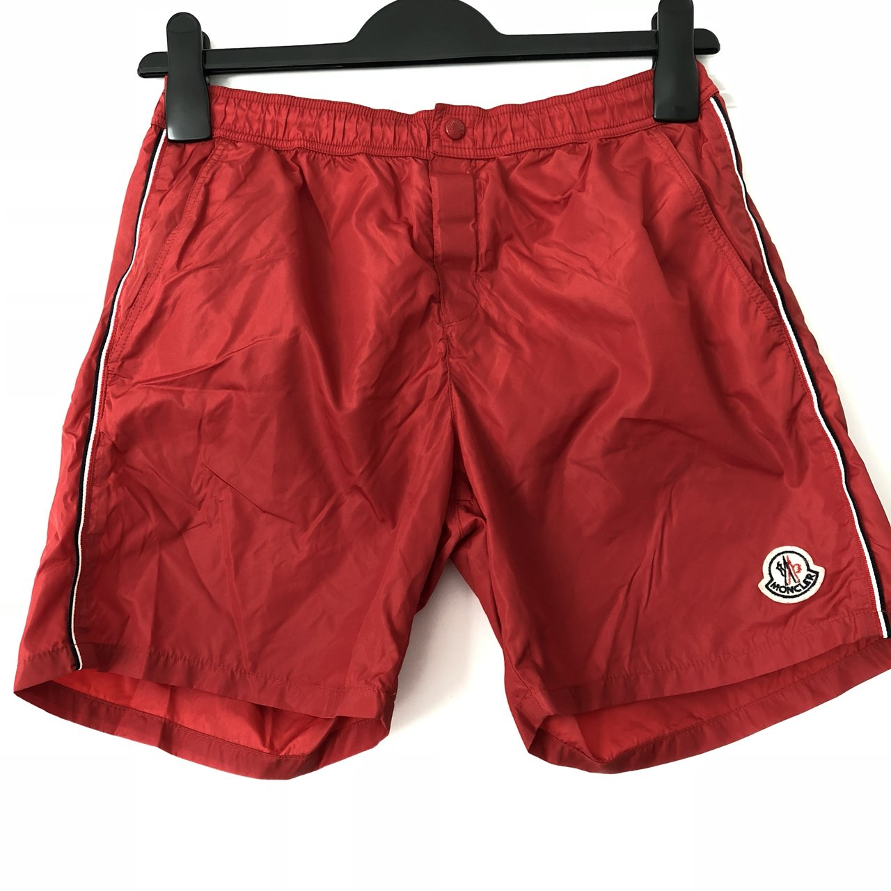 40eeb2ca0 Moncler Kids Swim Shorts. Colour - Red. Age 14. Very good - Depop