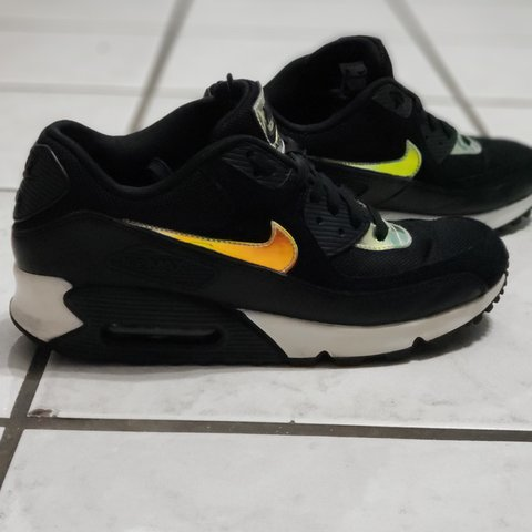 13ae99d97a945 Nike Air Max 90 (2014) Black Hologram colorway Men s Size - - Depop