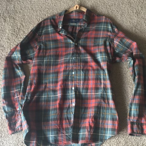 22a707df @for_the_lo. yesterday. Pittsburgh, United States. Ralph Lauren plaid  button up shirt. Size Large