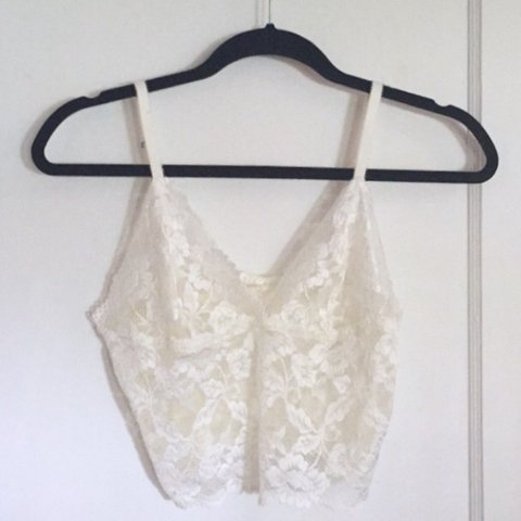 cf55dd1437610 Free shipping 🌷 vintage lace off white bra   bralette. are - Depop