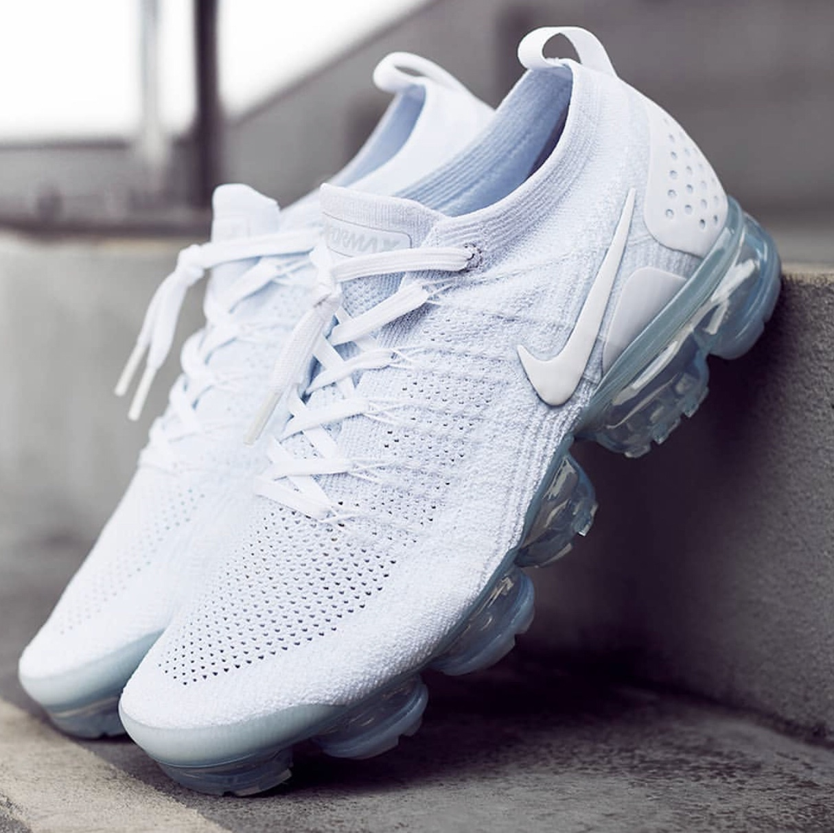 buy online c919e 67441 The @Nike Air VaporMax Flyknit Triple White ☁️ Worn ...