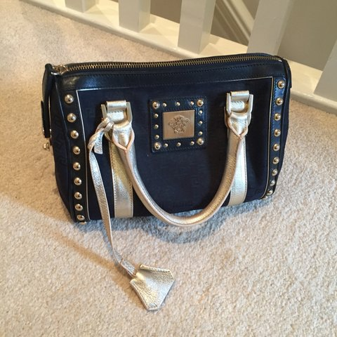 e4997025fb16 Limited edition Versace bag . Blue and gold .perfect hardly - Depop