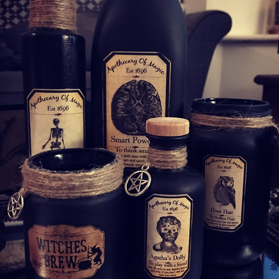Made to order witch/ apothecary potion bottles      - Depop