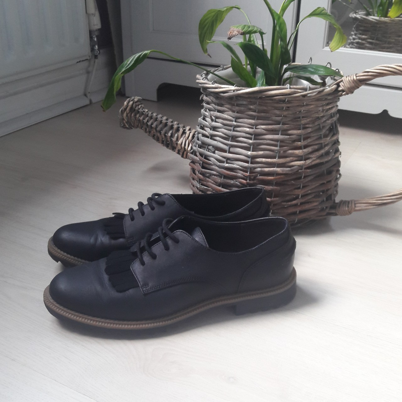 Clarks Griffin Mabel black leather lace