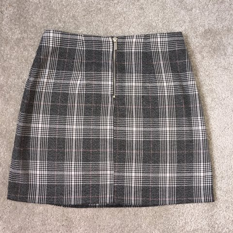 716e465f2b @kerryusher. last year. Stockport, United Kingdom. New Look tartan prince  of wales check skirt. Size 8 but quite a big ...