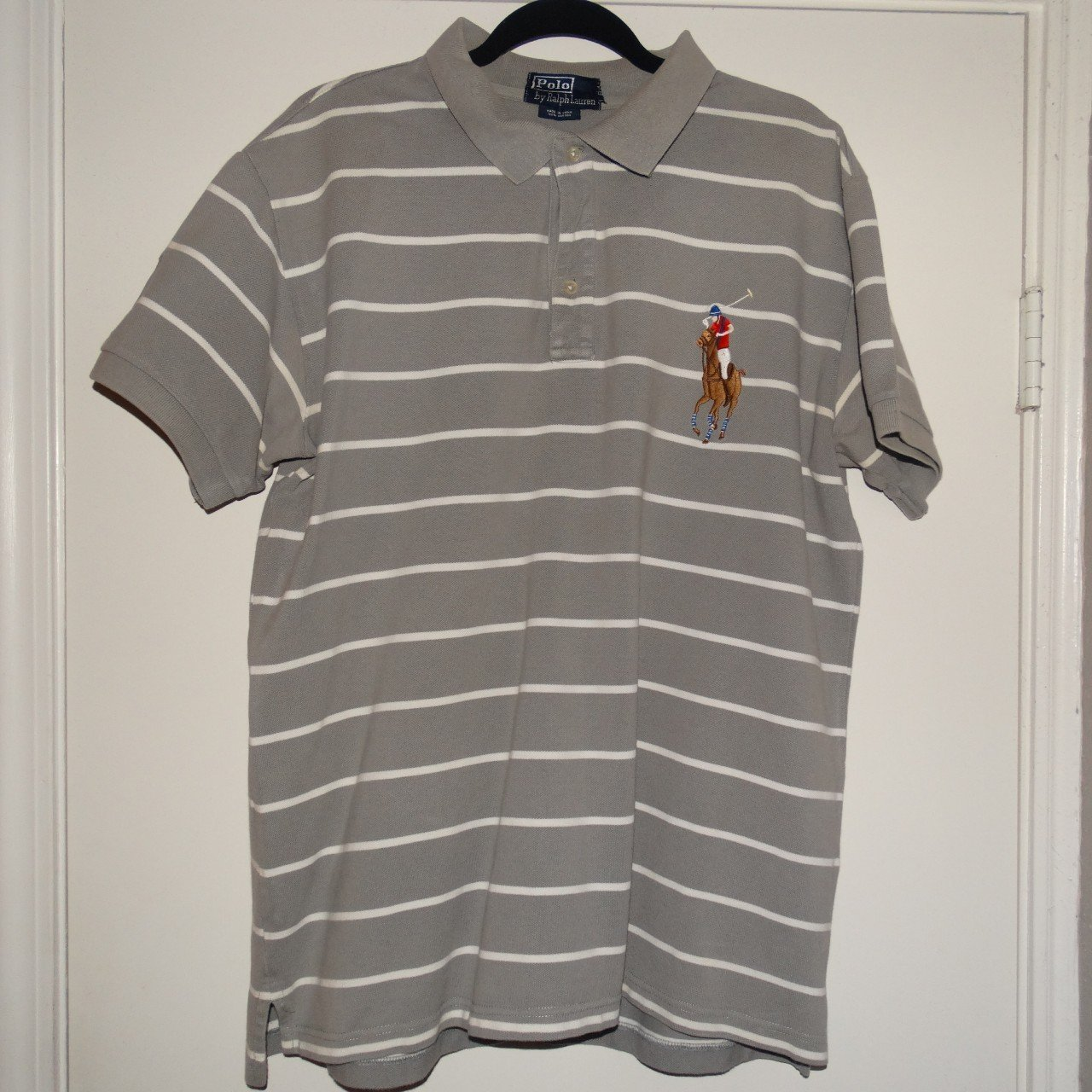 Ralph Lauren Polo Shirt Xxl Big Logo But Its Fits Like A Be Depop