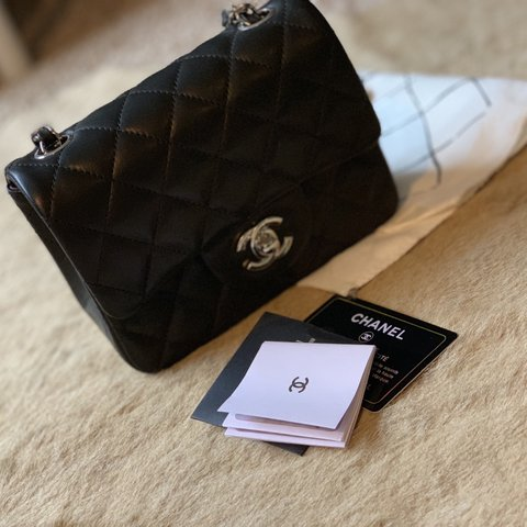 7e322eae6bf5 Chanel mini flap bag. Almost brand new. No receipt of Was to - Depop